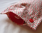Last One, Funky Monkey Dots Brushed Cotton Hot Water Bottle Cover, in Cream, Red and Brown