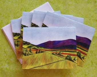 California Vineyards Note Cards, 5 pack