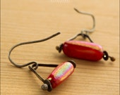 Red Sterling Silver Swing Earrings - Jewelry by Jason Stroud