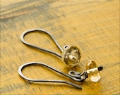 Sterling Silver Faceted Citrine Earrings - Jewelry by Jason Stroud