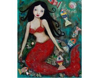 La Sirena, art print , open edition
