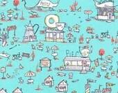 Michael Miller C4106 Aqua TASTY ESCAPE - one yard cotton fabric