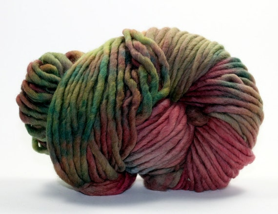Hand Dyed Yarn Pencil Roving Merino Wool - Orchard Three