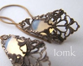 Moon Glow Filigree Earrings