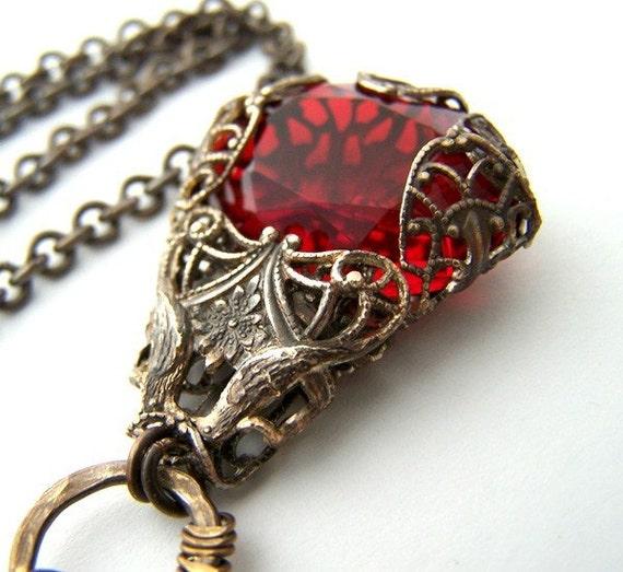 True Love Vintage Filigree Necklace