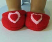 Valentine Slippers fit American Girl Dolls