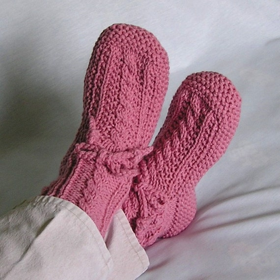Adult Booties MADE to ORDER Womens Slippers, Drawstring. Choose Color, Size