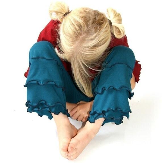 CHILDREN'S RUFFLED PANTS clothing| children| girls| girls pants| girls ruffled pants| handmade| treehouse28| custom clothing| comfortable