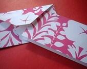 SALE Hot Pink Garden Notecard and Envelope Set (Set of 6)