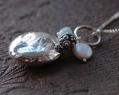 Sterling Silver Long Trinket Locket Necklace