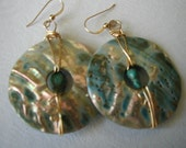 Abalone with Turquoise Earrings