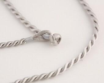 "16"" Gray Twist Cord Necklace"