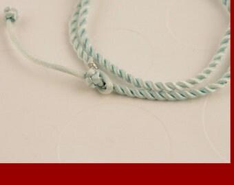 Powder Blue Twist Cord Necklace