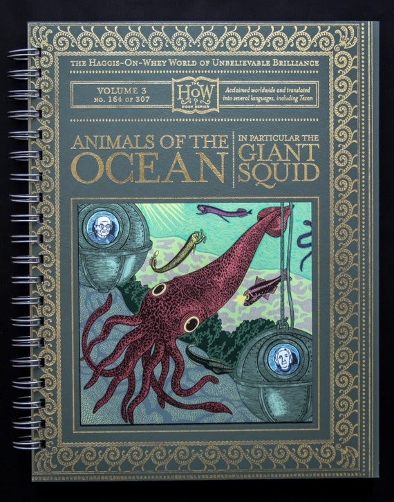 Giant Squid Recycled Journal