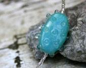 Aqua di Mare - Necklace with Unique Faux Lampwork Bead