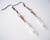 Amber fairy light earrings