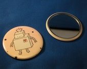 Robot mini pocket\/hand mirror