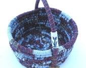 AMSTERDAM  textile art BASKET bucket tub