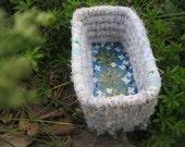 HERBS    a  series of painted garden  baskets  SWEET WOODRUFF