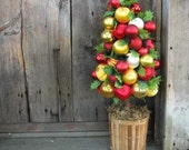 ORNAMENT TOPIARY  holiday centerpiece TREE