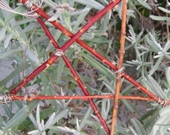 STAR STICK ORNAMENT silver wire NATURAL celestial DECORATION