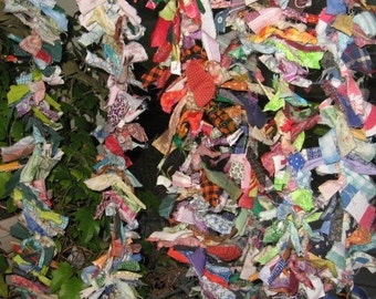 COLORFUL  Rag GaRLaND  recycled fabric  LONGER length