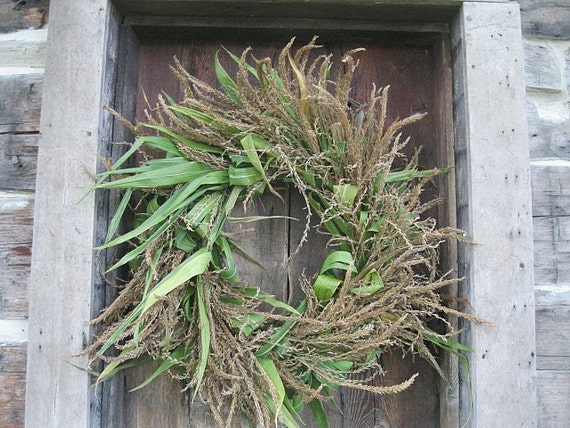 CORN TASSEL WREATH  all natural  decoration  for door or wall  Extra Large Size