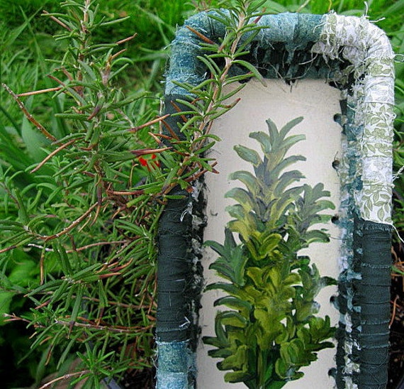 HERBS   a new Garden series of painted   baskets  ROSEMARY