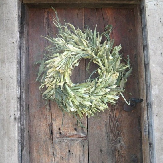 CORN  STALK AND HUSK WREATH   for wall or door decoration
