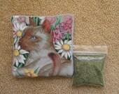 Catnip MiniMat and Catnip  Refillable Cat Toy Siamese Cat Flowers