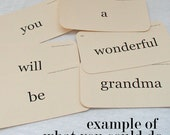 Custom Flash Card tag set