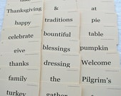 Thanksgiving Flash Card set