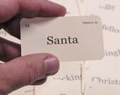 Mini Here Comes Santa flash cards