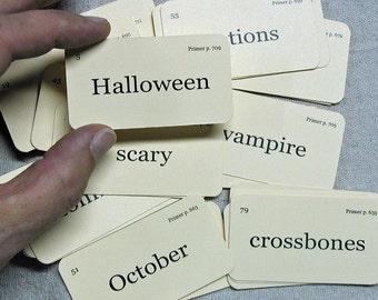 Mini Halloween flash cards