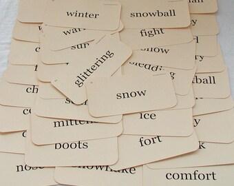 Winter Wonderland flash card tag set