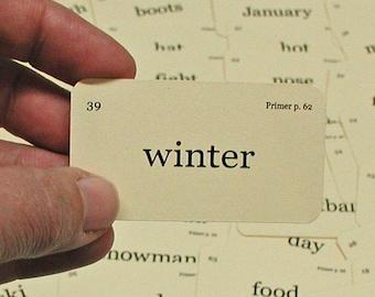 Mini Winter Wonderland flash cards