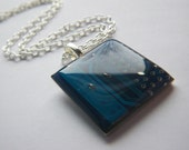 Recycled Circuit Pendant Blue Square
