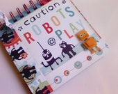 Post-It note pad holder - Robots At Play