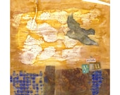 Print - Be Joyfully You Mixed Media Encaustic Painting Abstract
