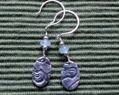 Fine Silver Earrings with Aquamarine