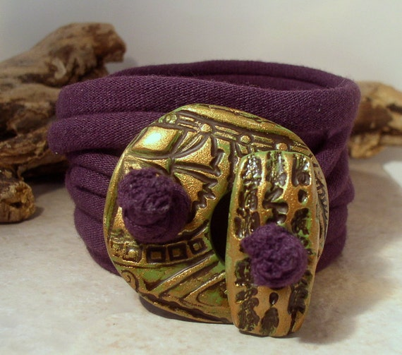 Wrap Bracelet - Necklace - Anklet - Plum