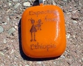 Expecting from Ethiopia Fused Glass Pendent