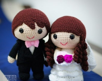 jake & fiona wedding dolls pattern