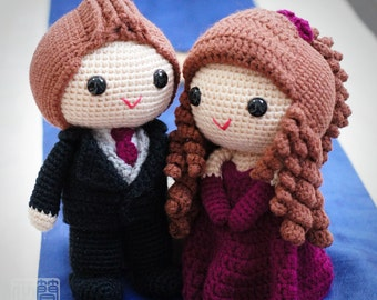 Elena & Casper wedding dolls pattern