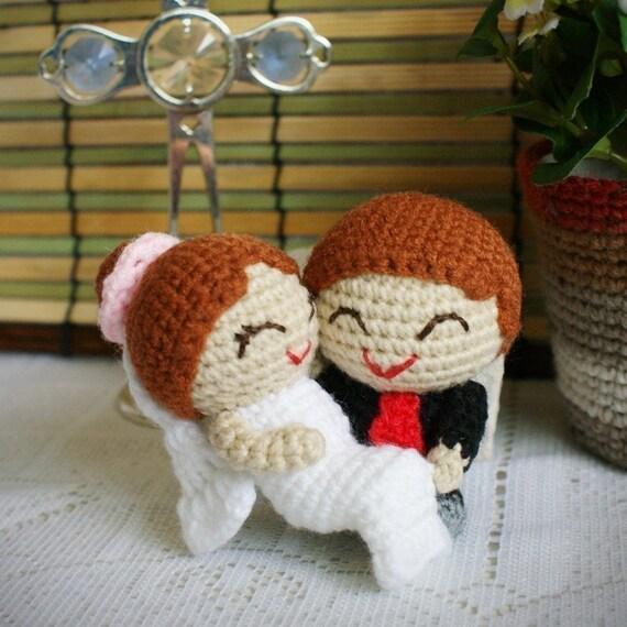 Free Amigurumi Wedding Couple Pattern : Amigurumi wedding couple pattern the joyful matt and lindsay