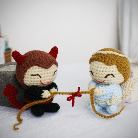 amigurumi angel vs devil boy pattern