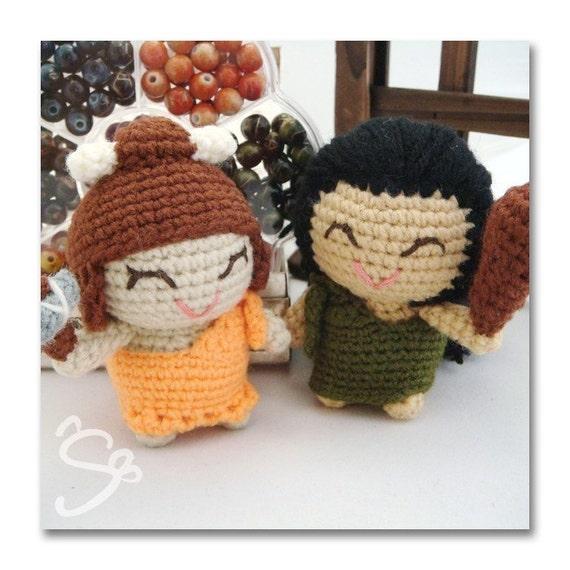 abo and eli amigurumi cave people pattern