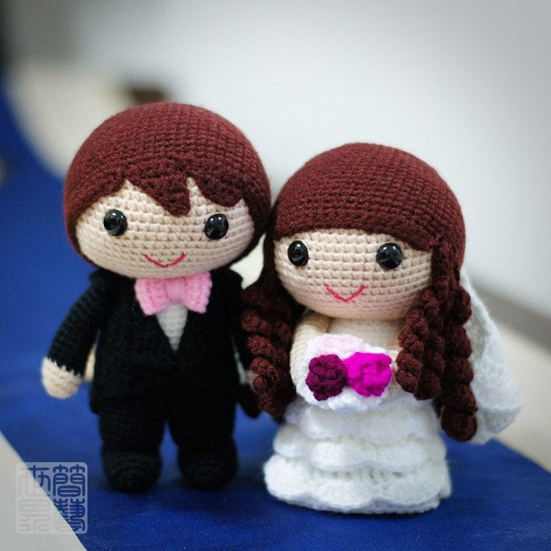 Crochet Pattern Amigurumi Cat : jake & fiona wedding dolls pattern 50% OFF LIMITED TIME