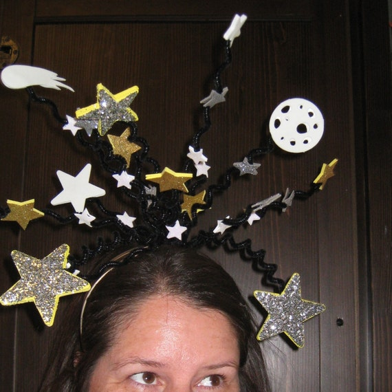 Items similar to outer space bopper headband glow in the for Outer space outfit