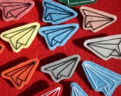RESERVED set of 3 paper airplane pins